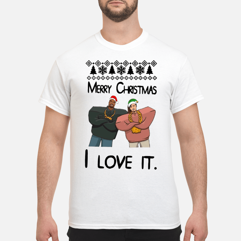 Kanye West and Lil Pump merry Christmas I love it sweater and shirt