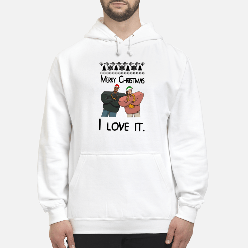 Kanye West and Lil Pump merry Christmas I love it sweater