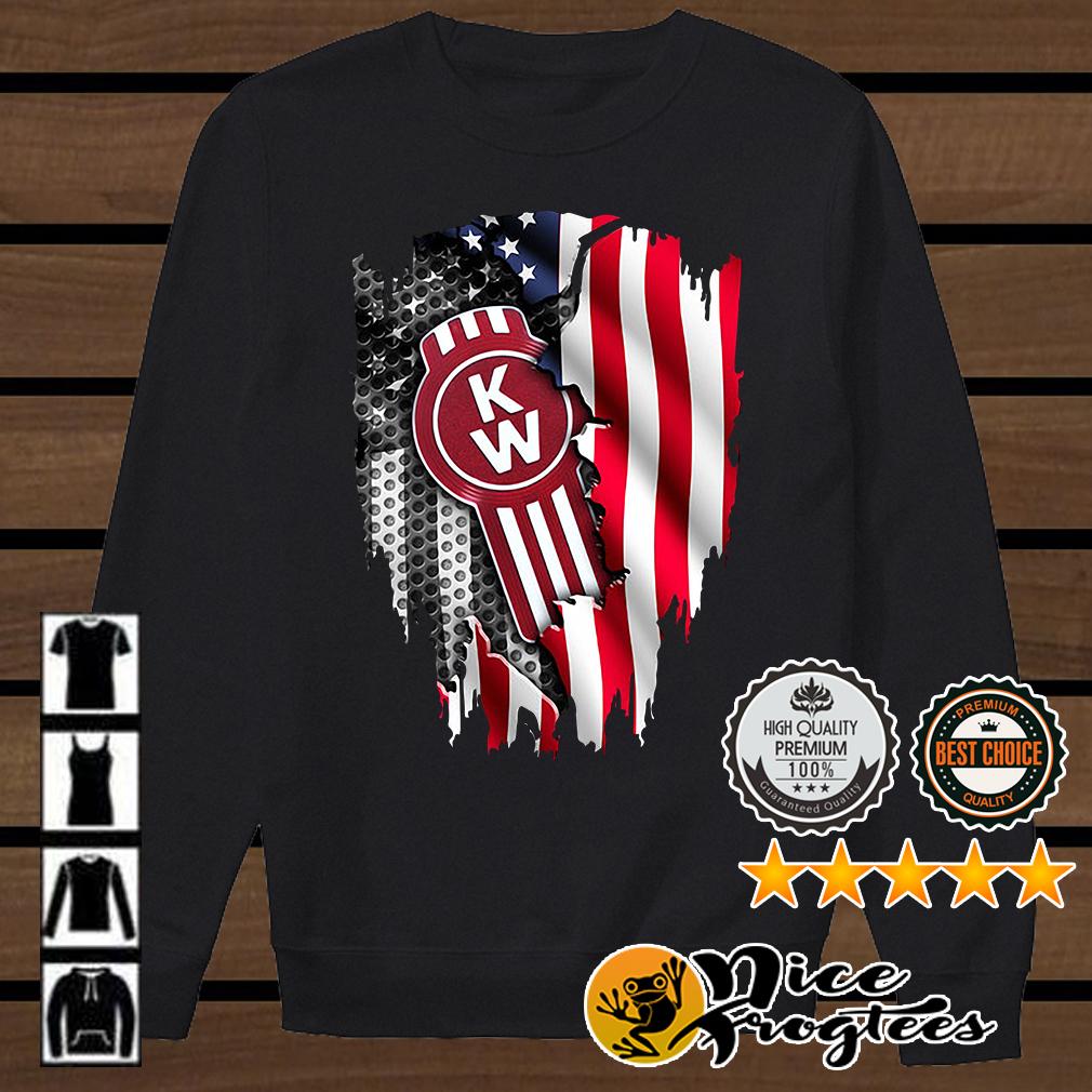 Kenworth Trucks The World's Best inside American flag shirt
