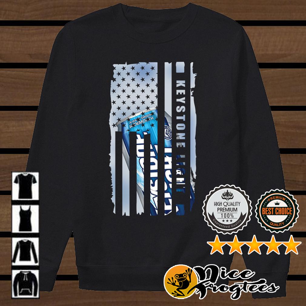 Keystone Light American flag shirt