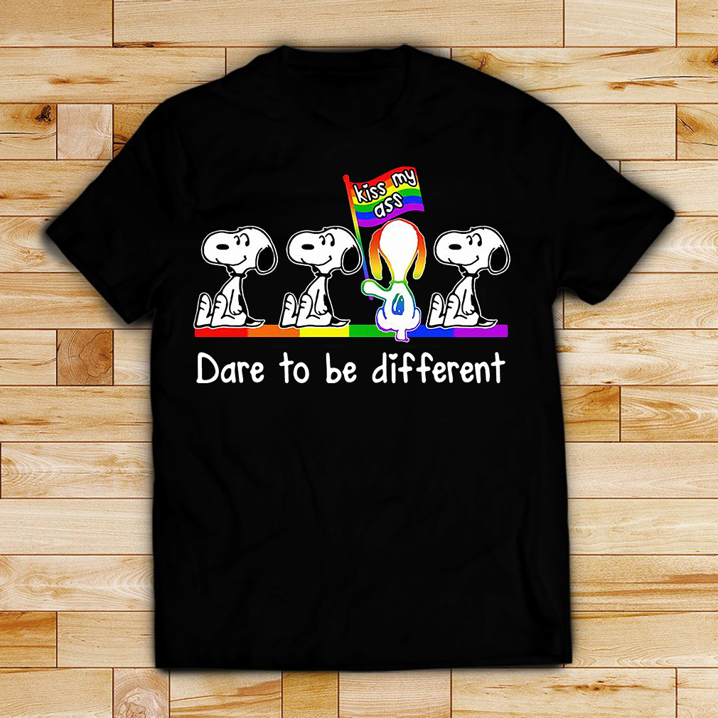 LGBT autism Snoopy dare to be different kiss my ass shirt