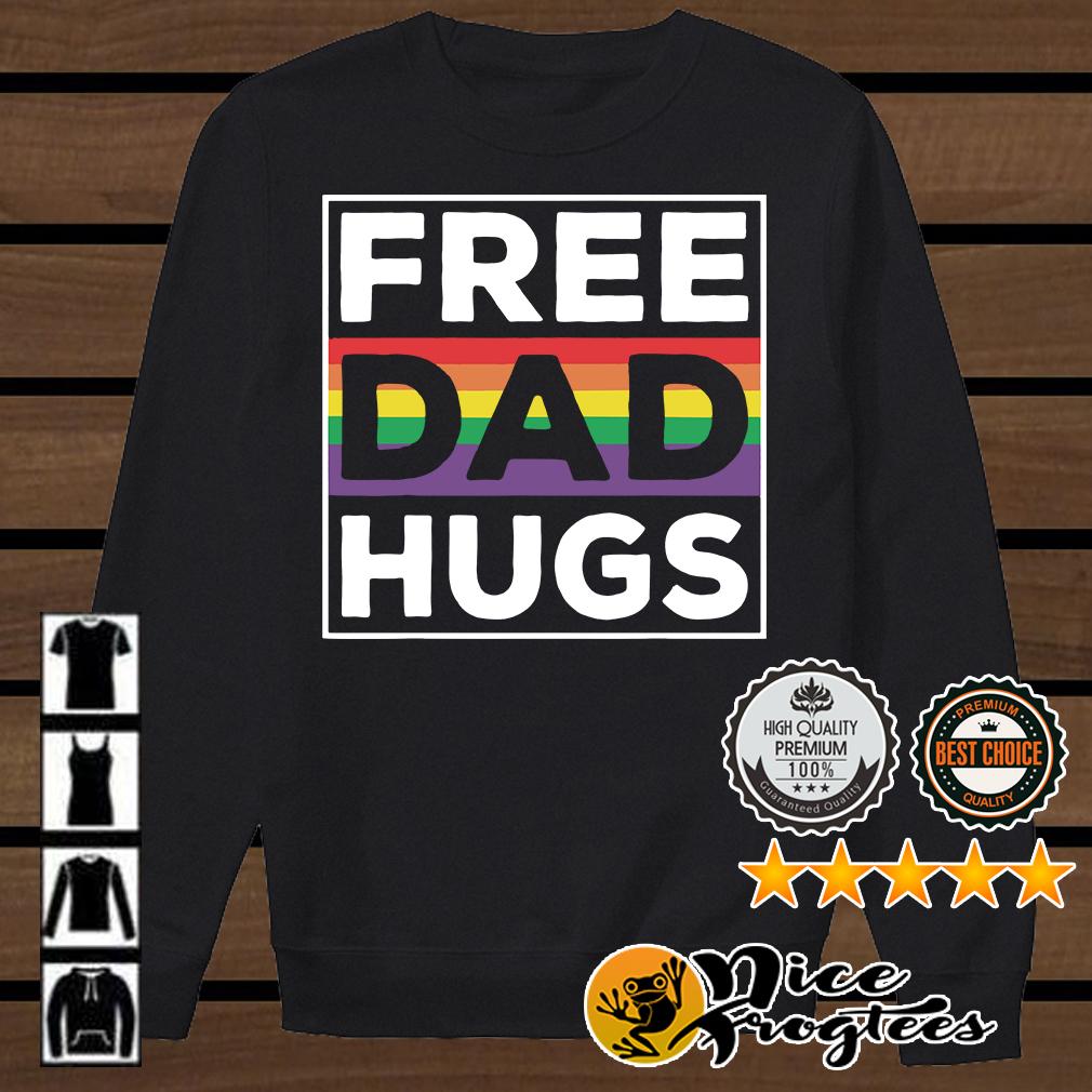 LGBT free dad hugs shirt