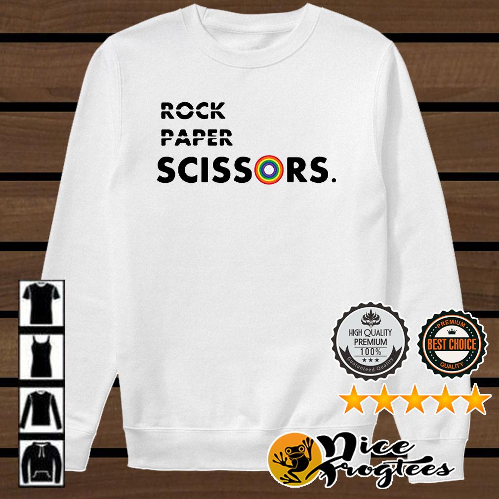 LGBT rock paper scissors shirt