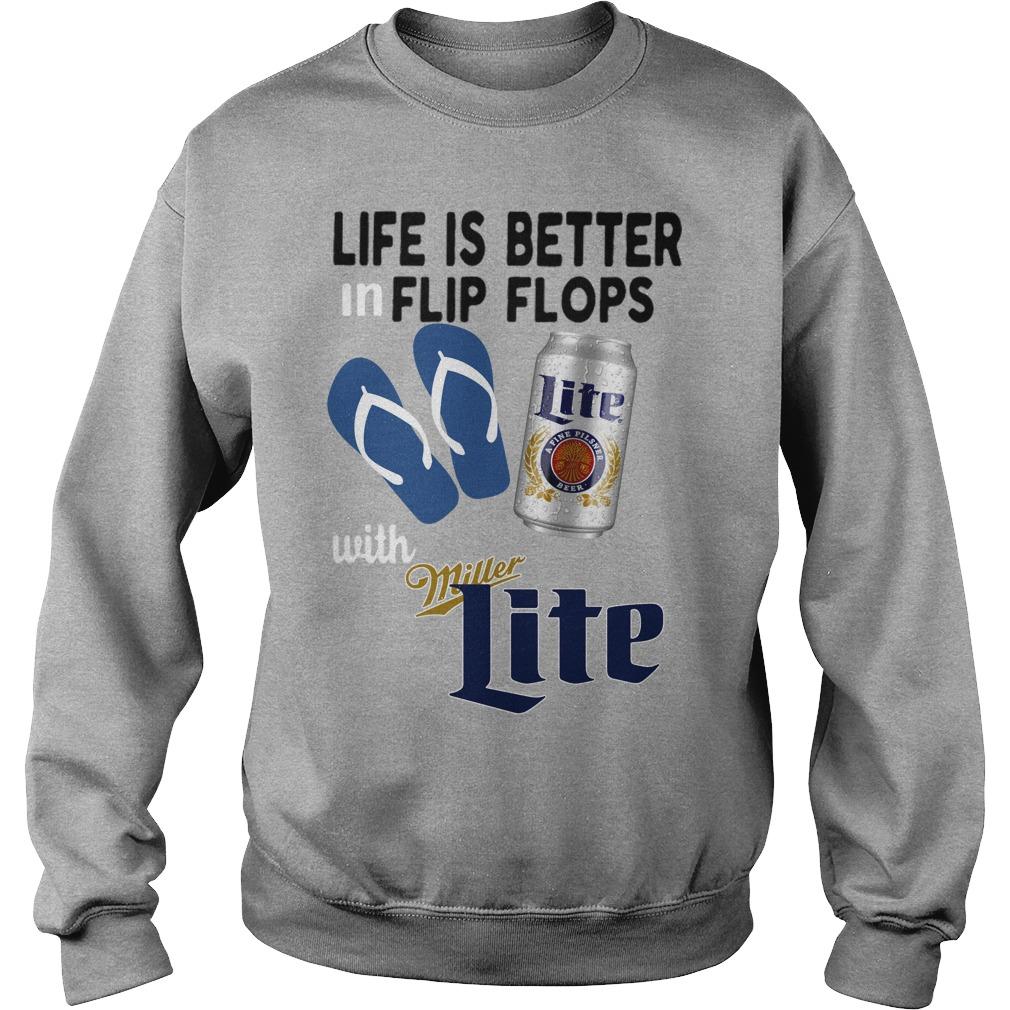 0d4524a466d559 Life is better in flip flops with Miller Lite Sweater