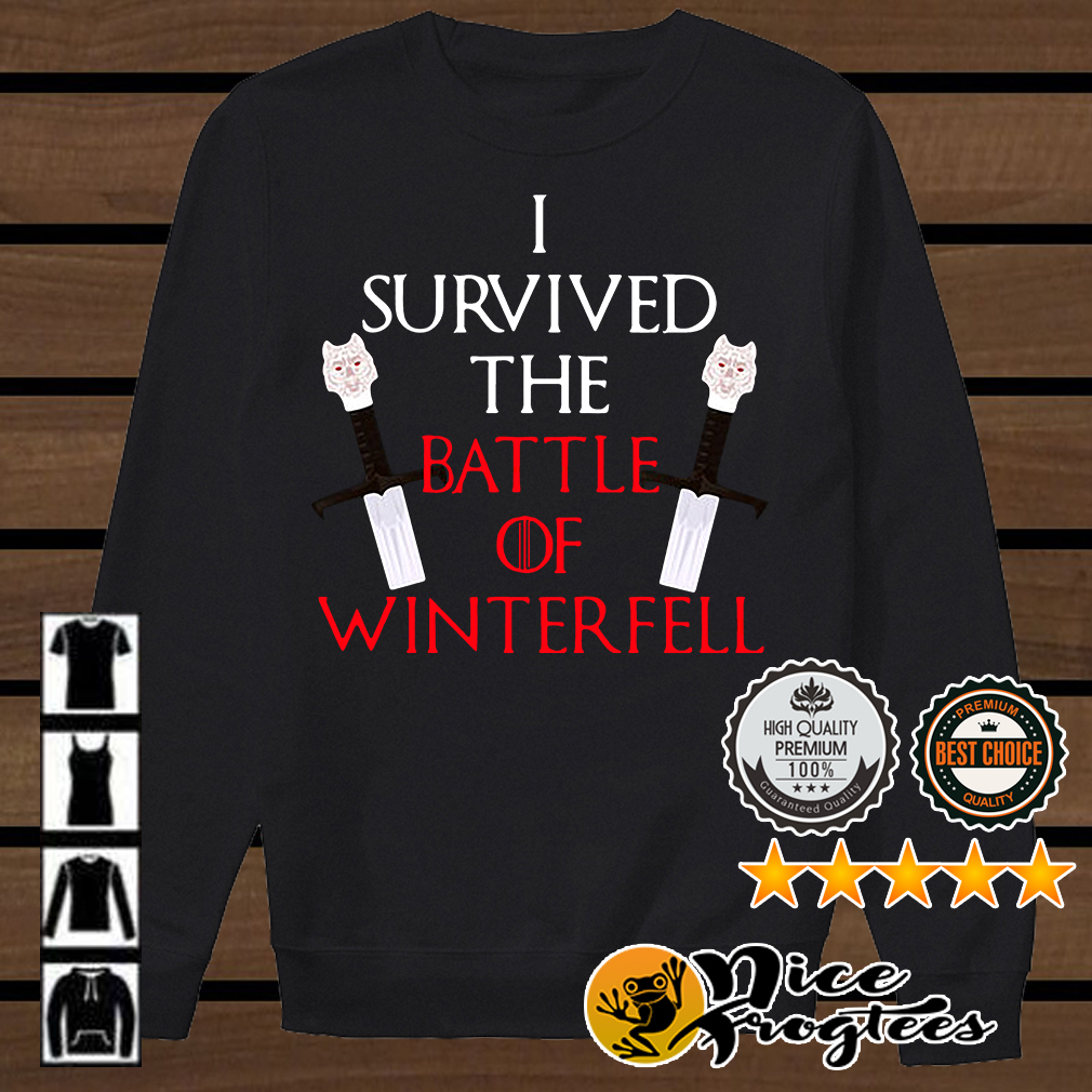 Longclaw of Jon Snow I survived the battle of Winterfell Game of Thrones shirt