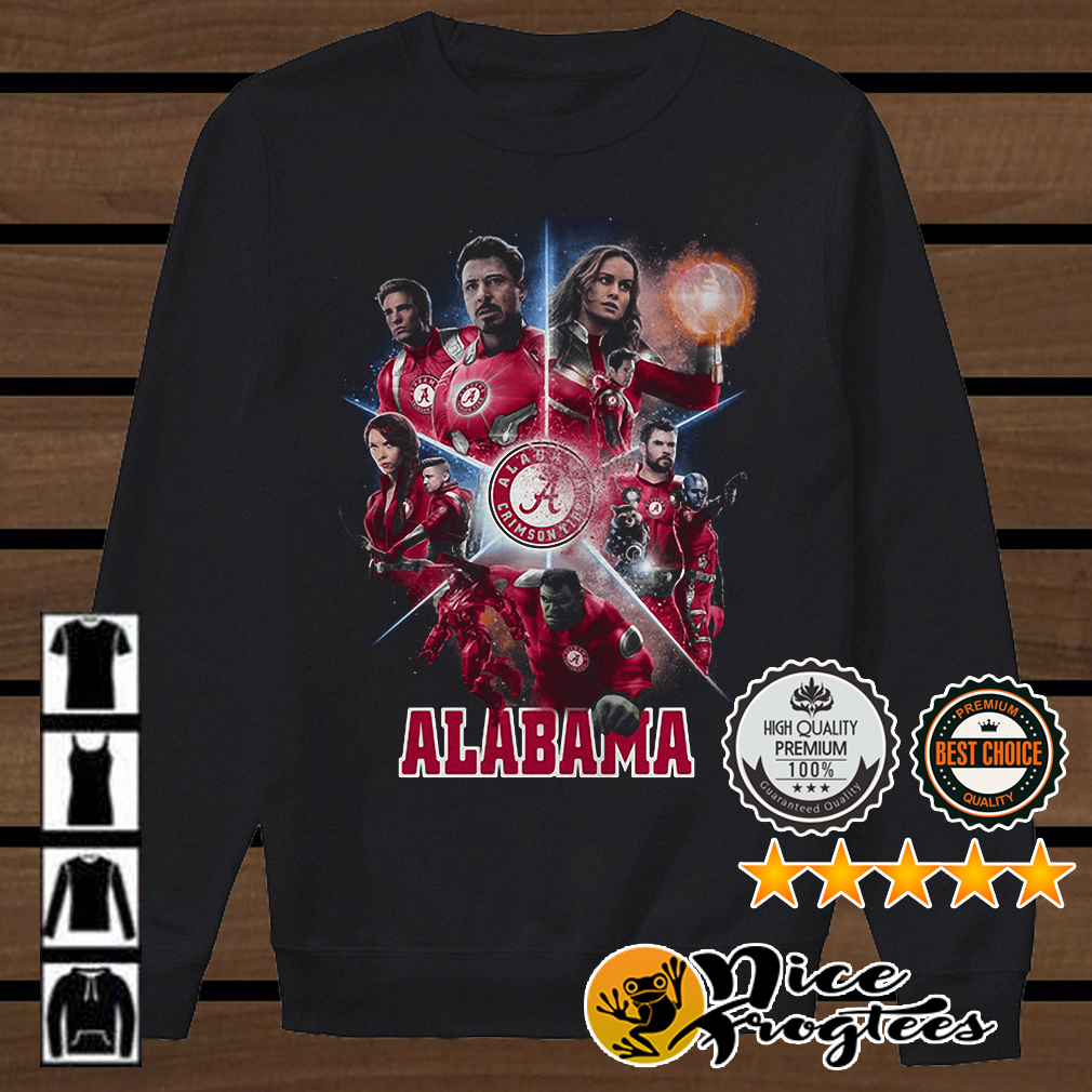 Love both Alabama Crimson Tide and Avengers Endgame shirt