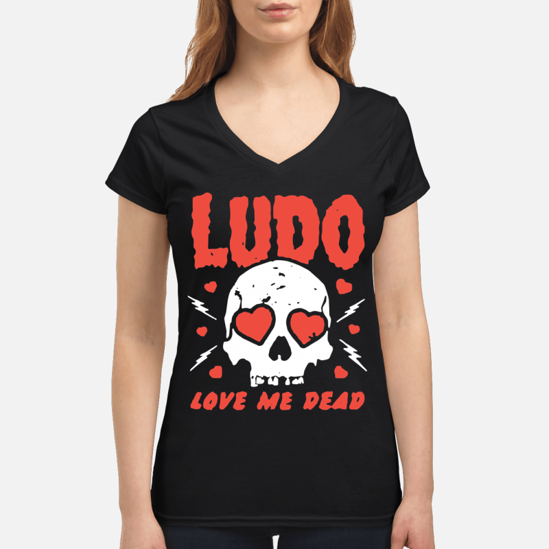 Ludo love me dead V-neck t-shirt