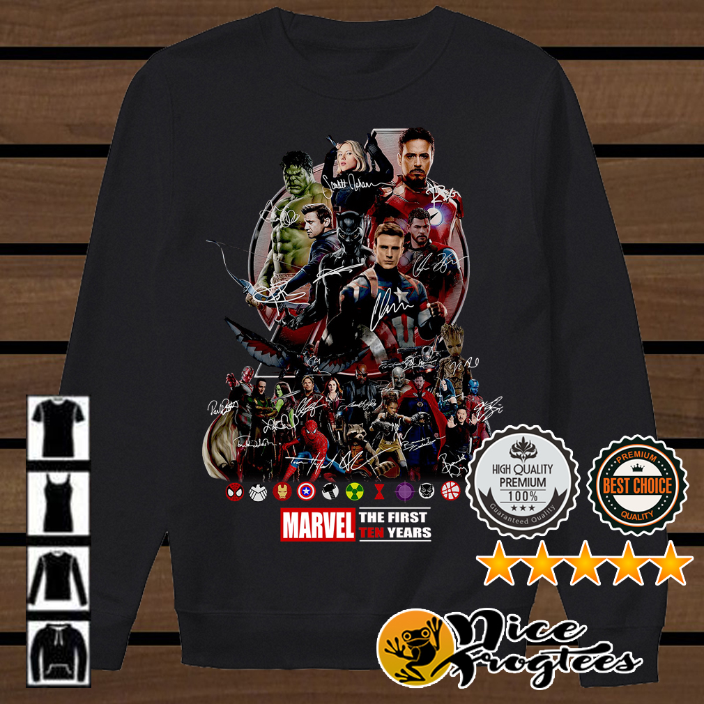 Marvel the first ten years all characters' signature Avengers shirt
