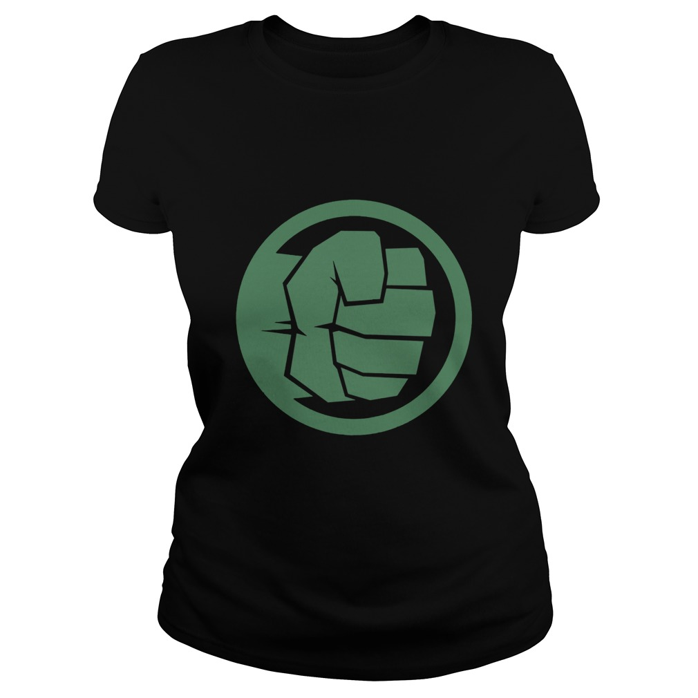 Marvel Thor Ragnarok Hulk Fist Tonal Icon Graphic Ladies tee