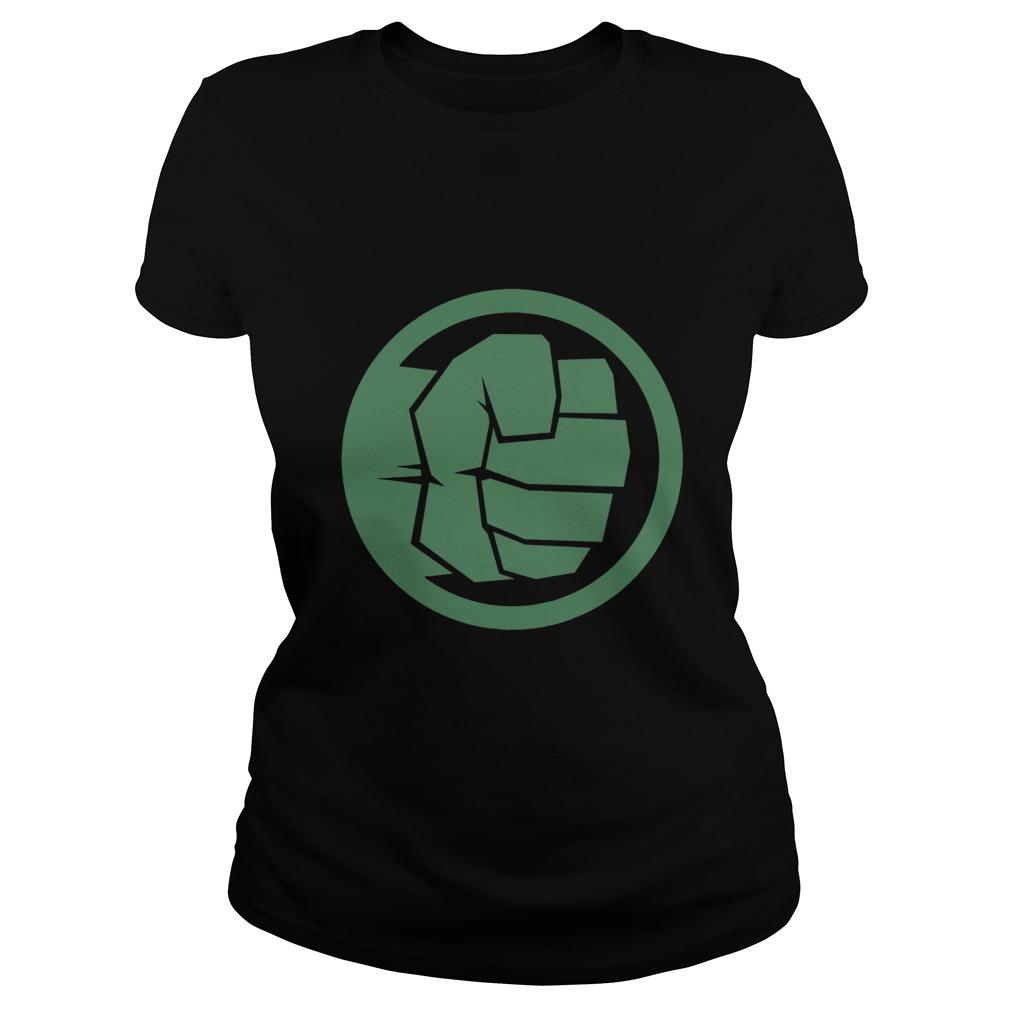 Marvel Thor Ragnarok Hulk Fist Tonal Icon Graphic Ladies tee