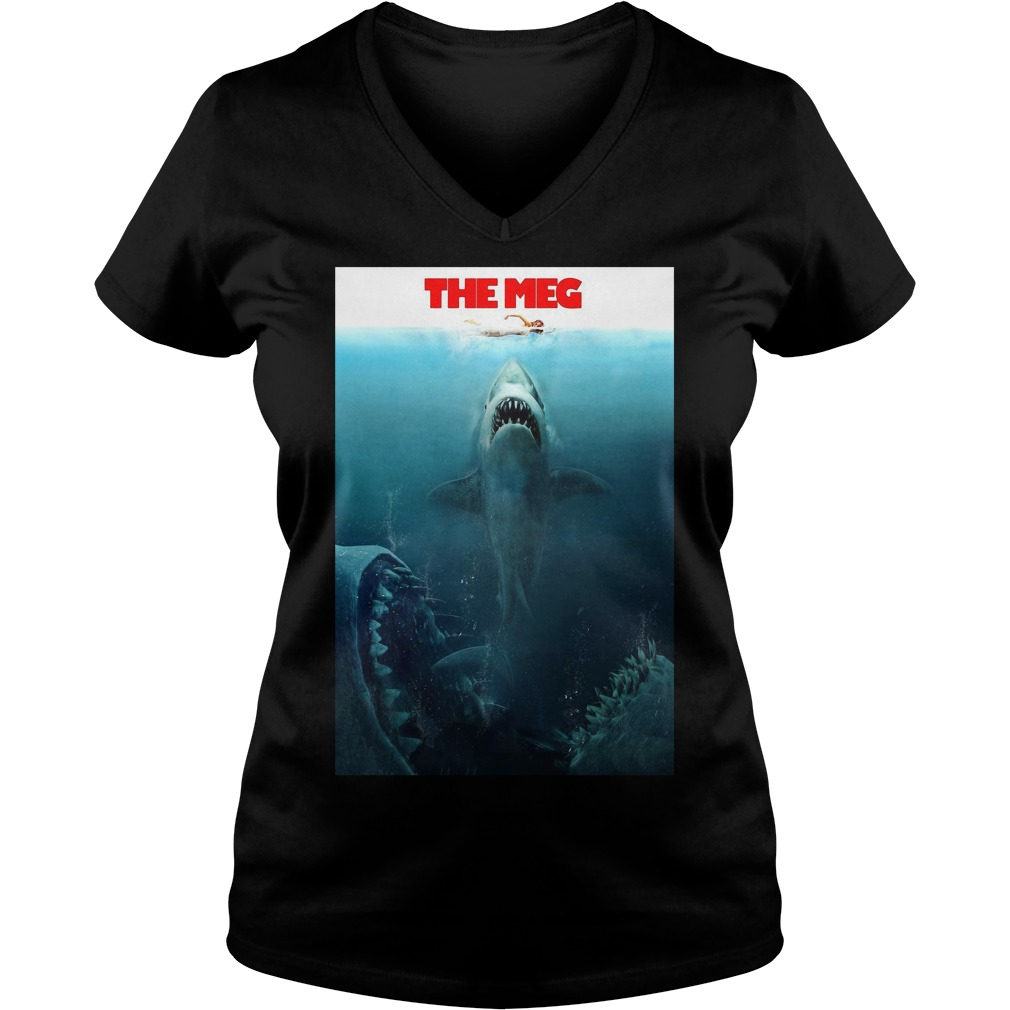 Megalodon the meg V-neck T-shirt