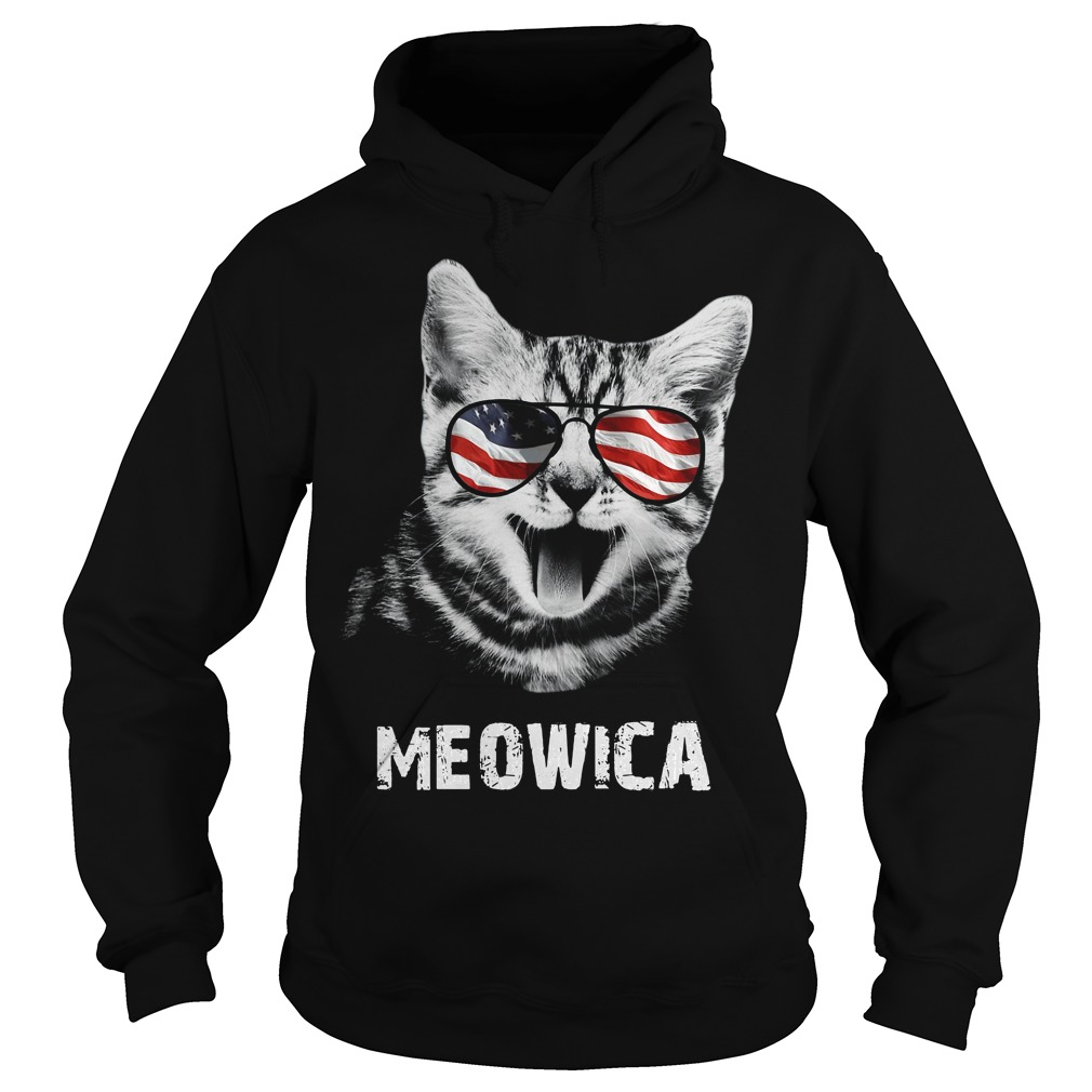 Meowica 4th of July American Flag Hoodie
