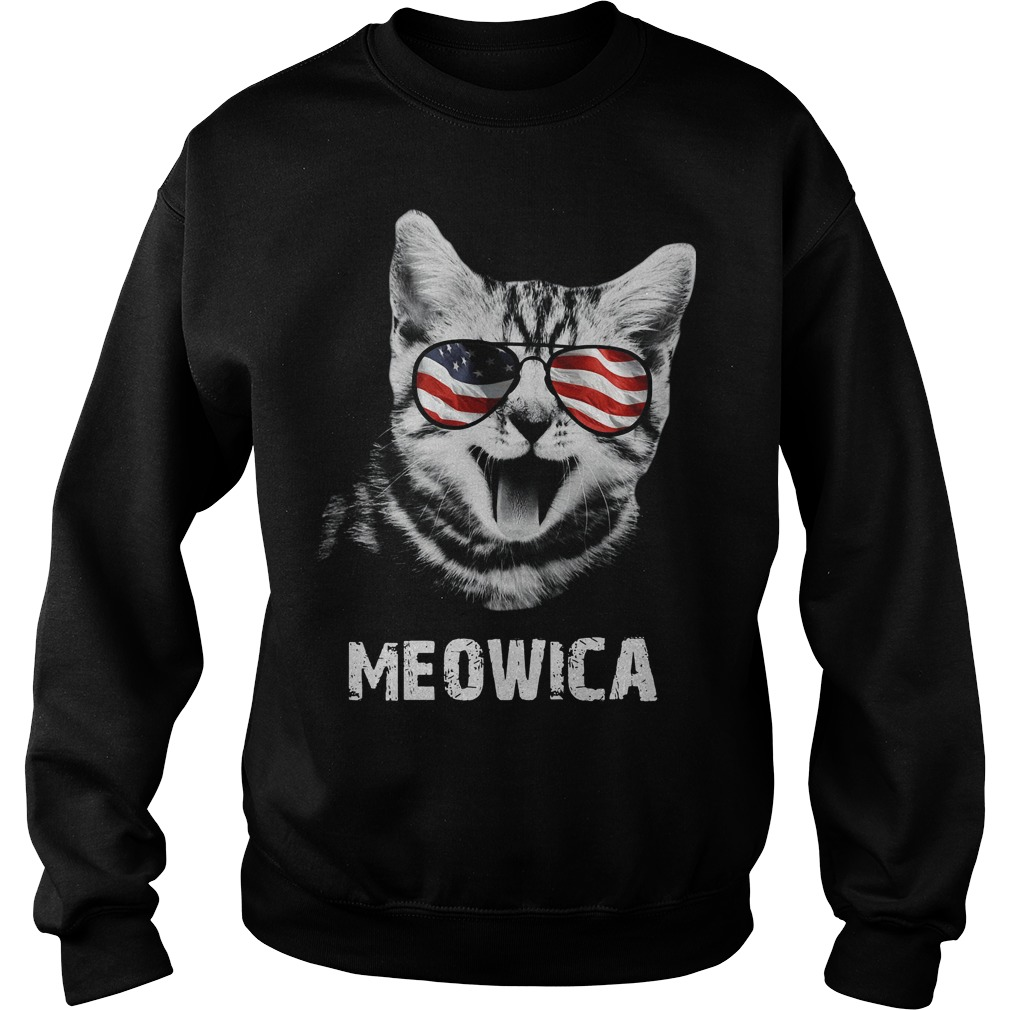 Meowica 4th of July American Flag Sweater
