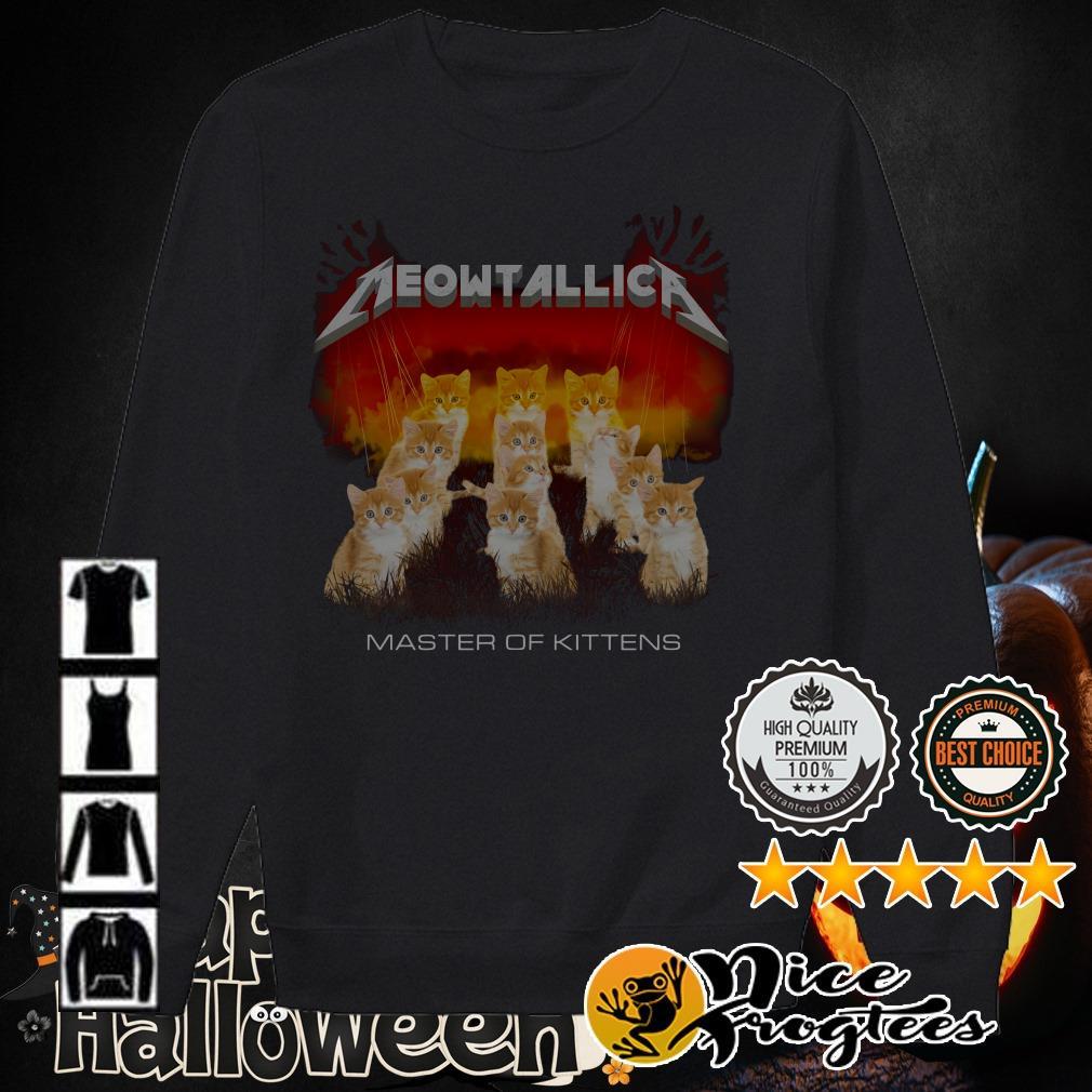 Meowtallic Metallica master of kittens shirt