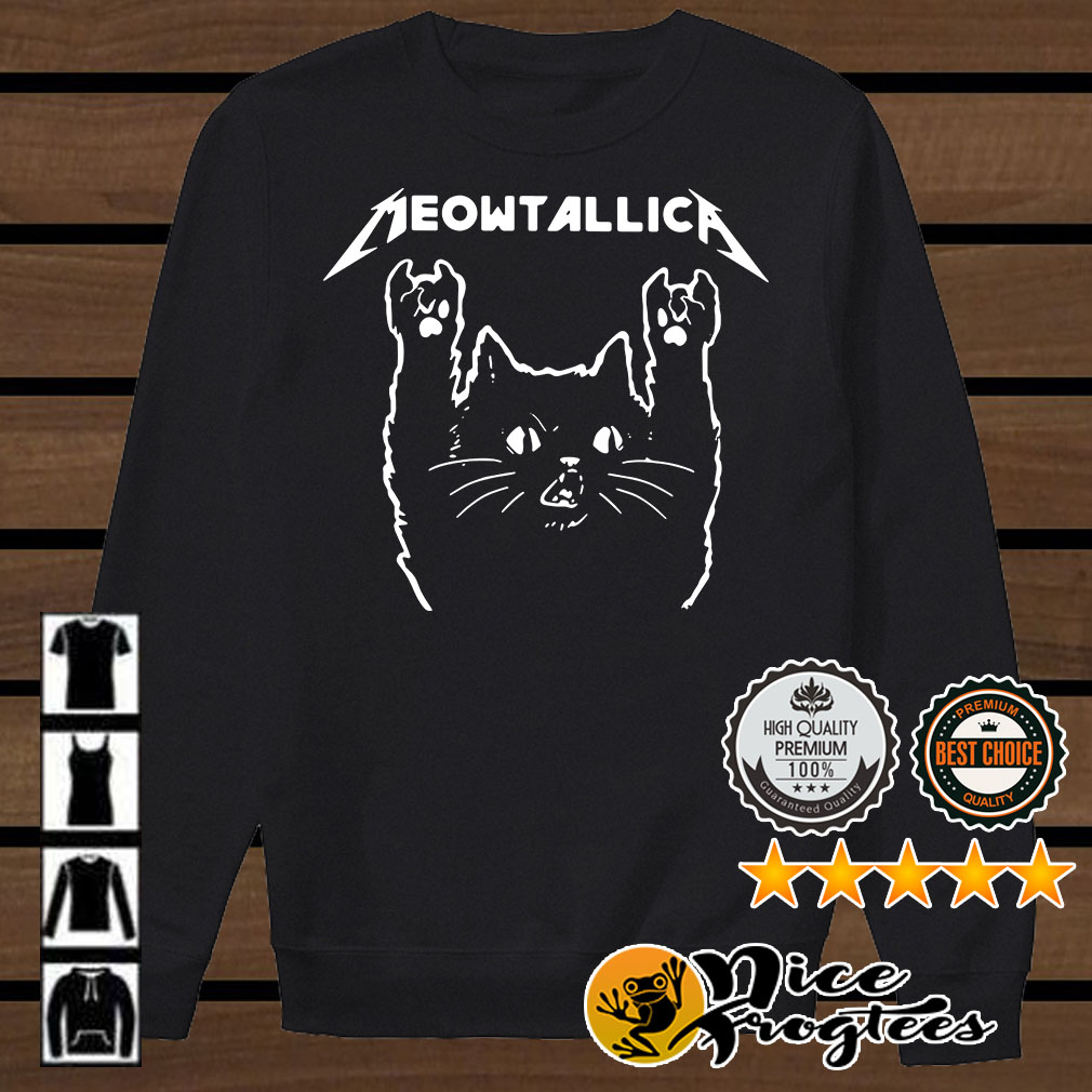 Metallica Meowtallica cat shirt
