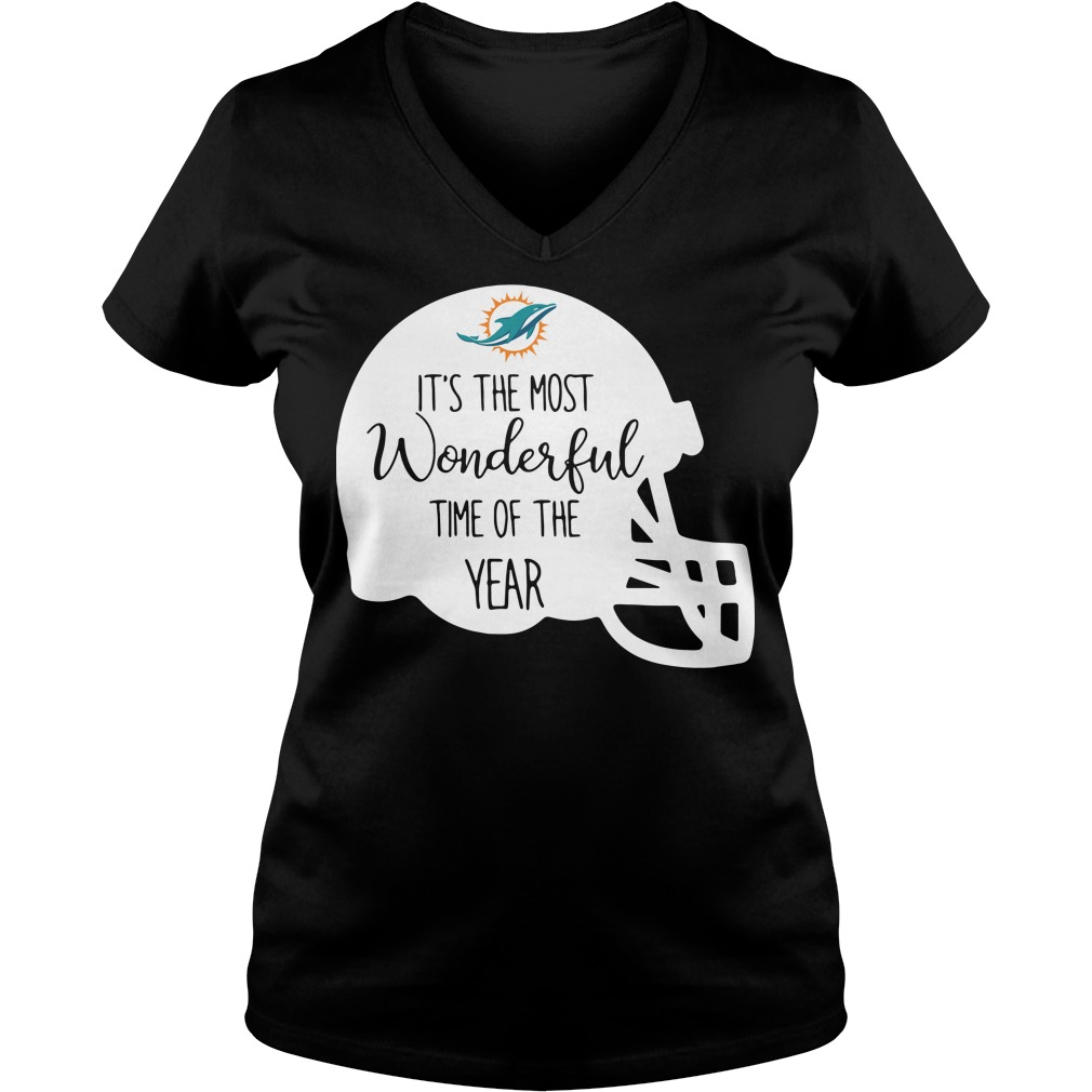 Miami Dolphins It's the most wonderful time of the year V-neck T-shirt