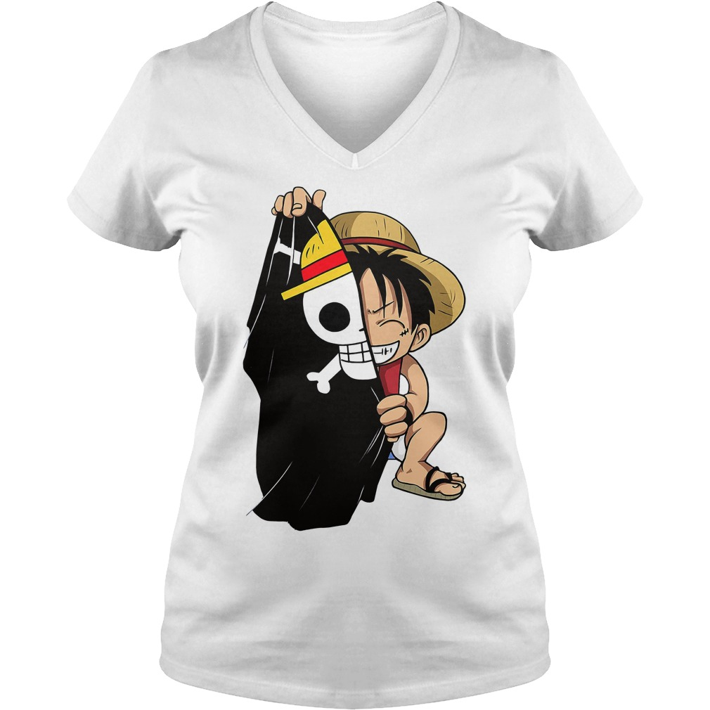 Monkey D Luffy Flag One Piece Men's V-neck t-shirt