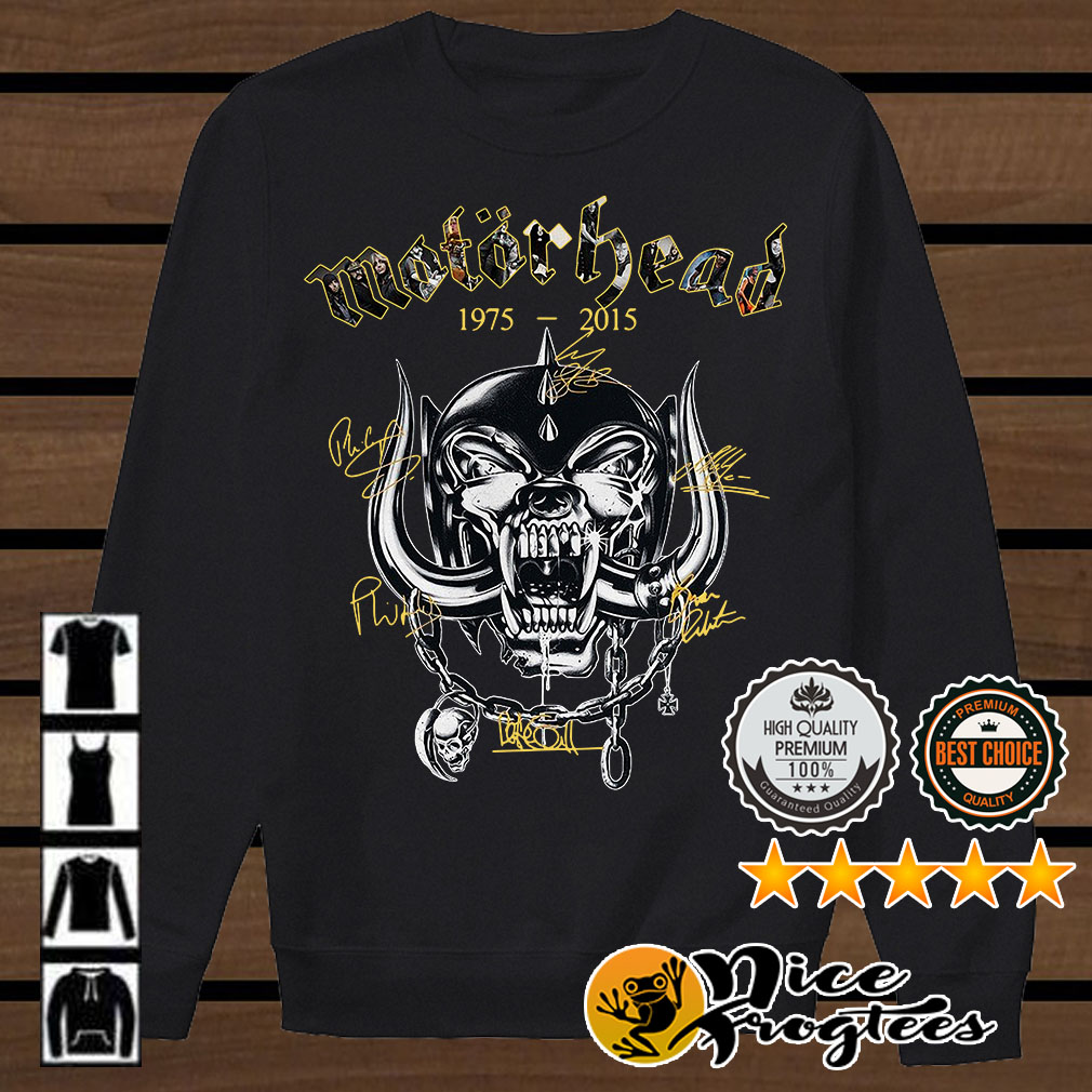Motor Head 1975-2015 signatures shirt