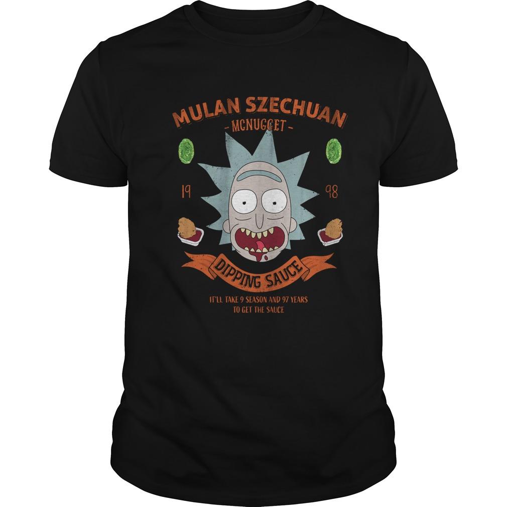 Mulan szechuan dipping sauce Rick and Morty shirt