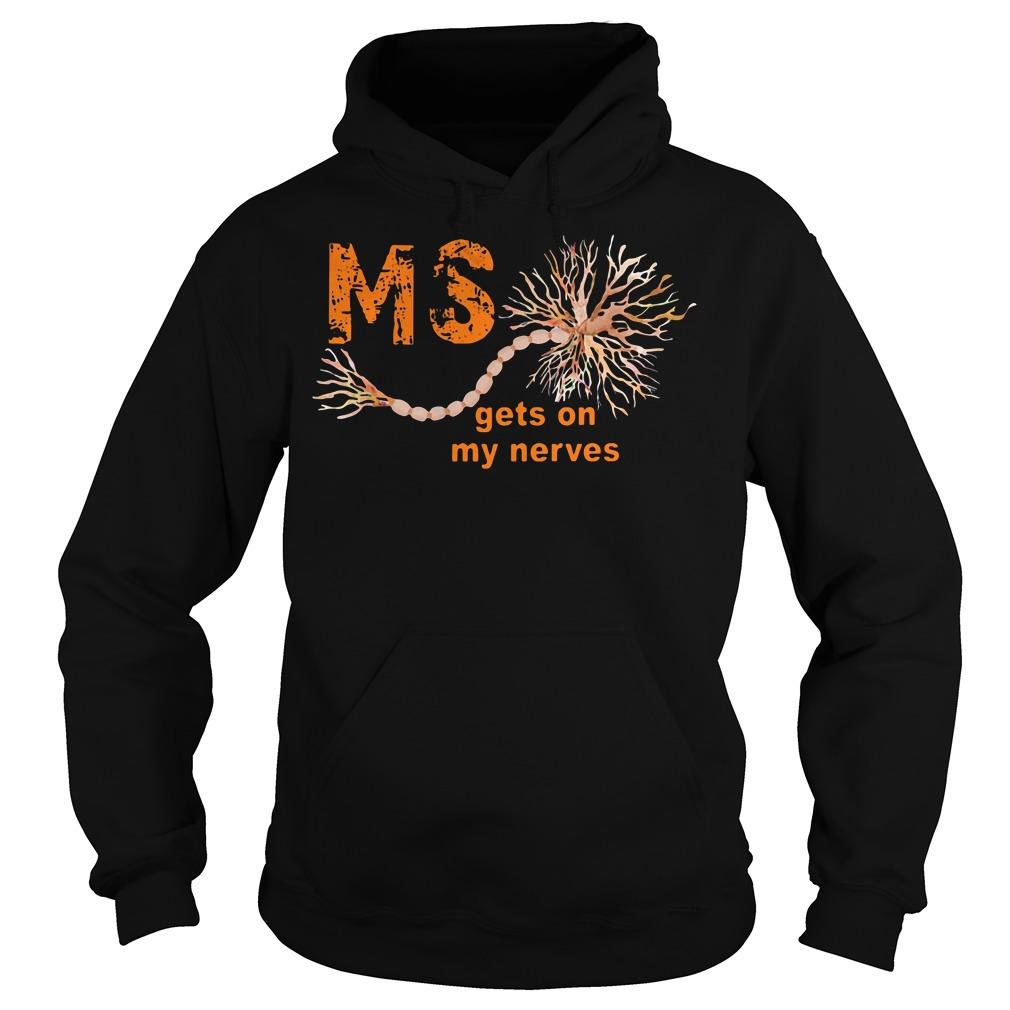 Multiple Sclerosis gets on my nerves Hoodie