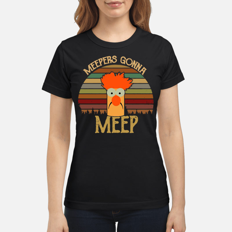 The Muppet Show Beaker meepers gonna meep retro Ladies tee