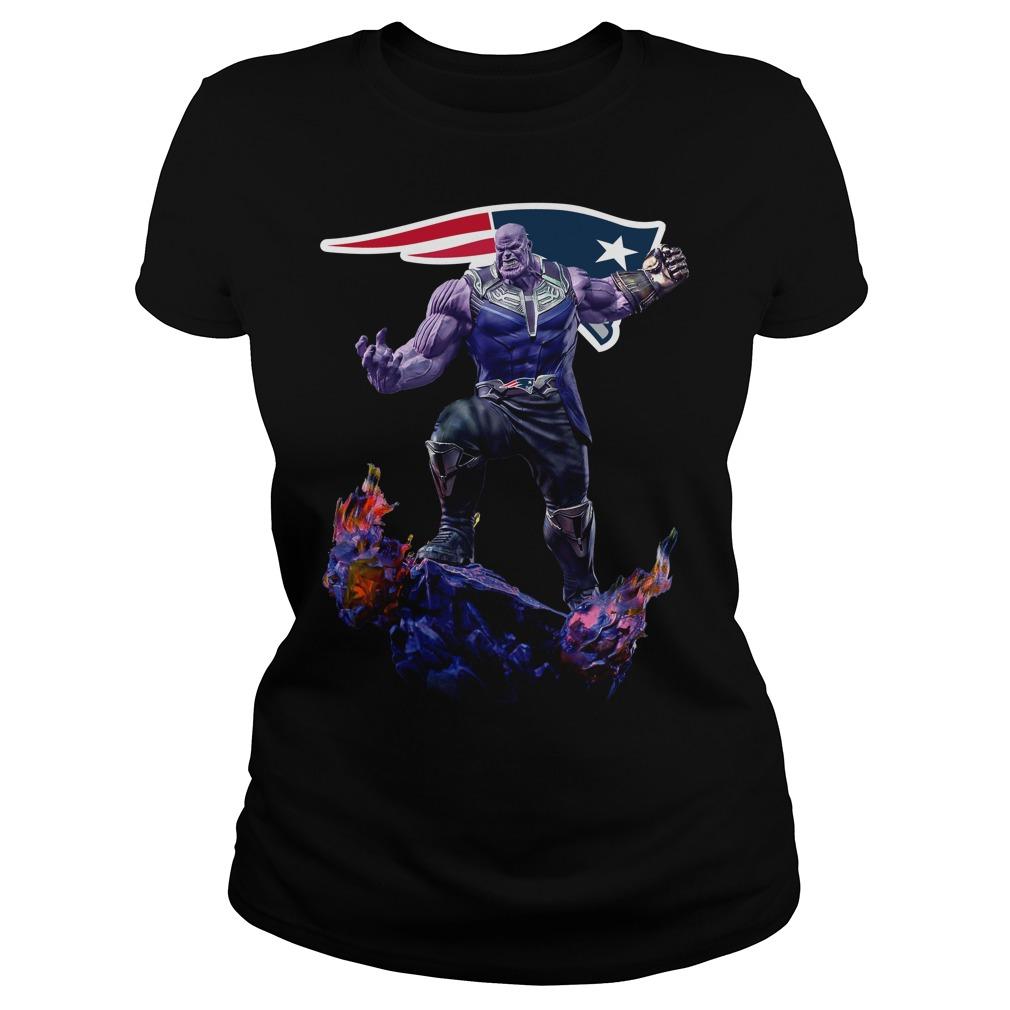 New England Patriots Thanos Infinity War Ladies tee