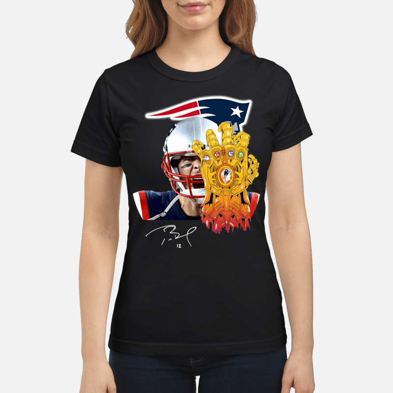 New England Patriots Tom Brady Thanos Ladies tee