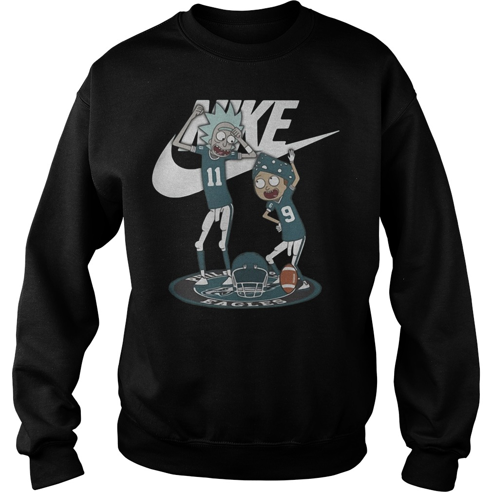 Rick and Morty Nike Philadelphia Eagles shirt, hoodie, sweater
