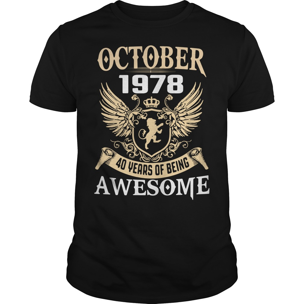 October 1987 40 years of being awesome shirt