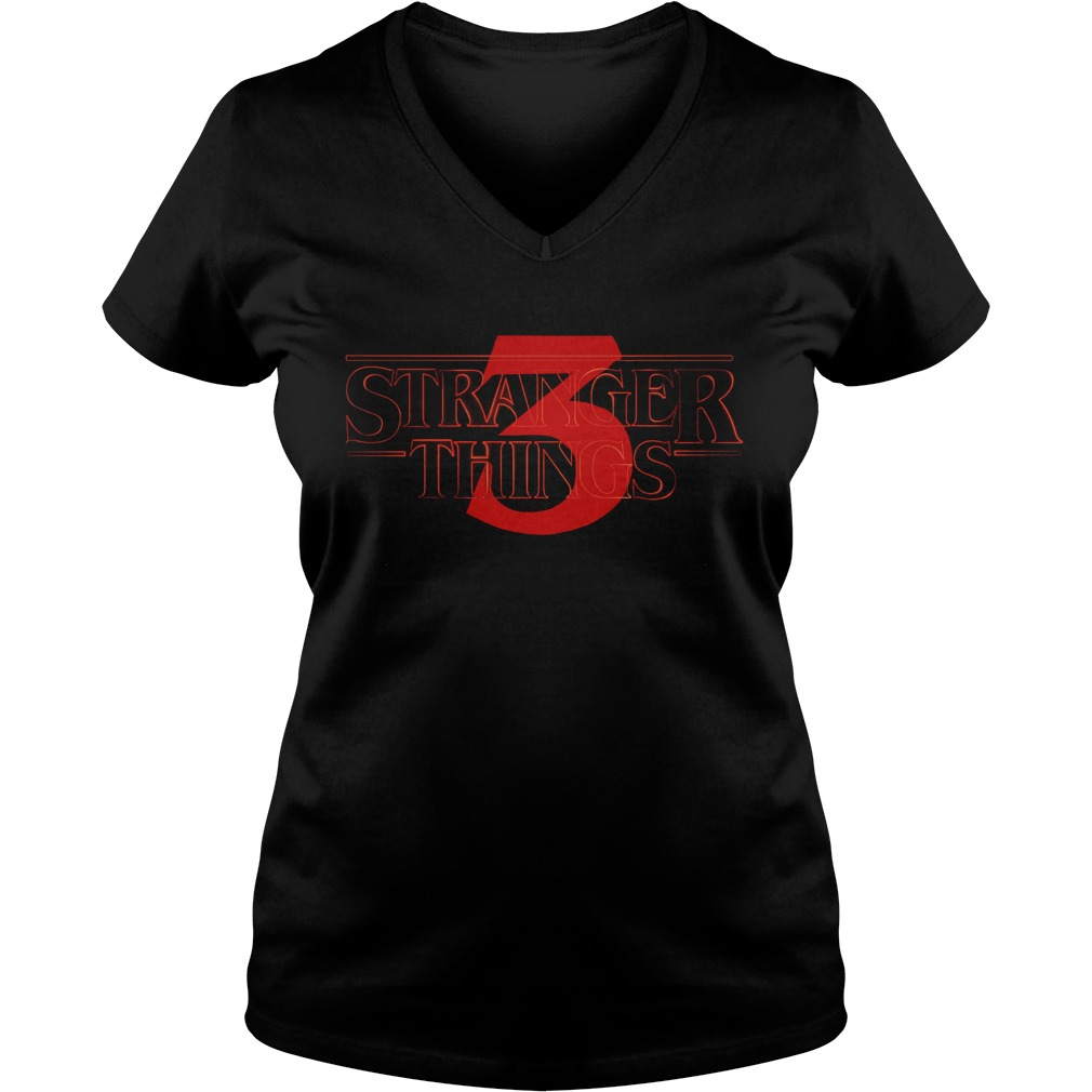 Official Stranger Things Season 3 V-neck t-shirt