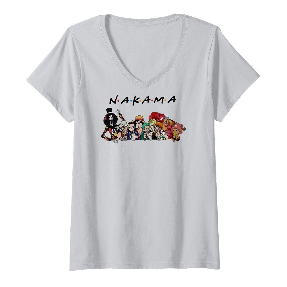 One Piece Nakama Friends V-neck T-shirt