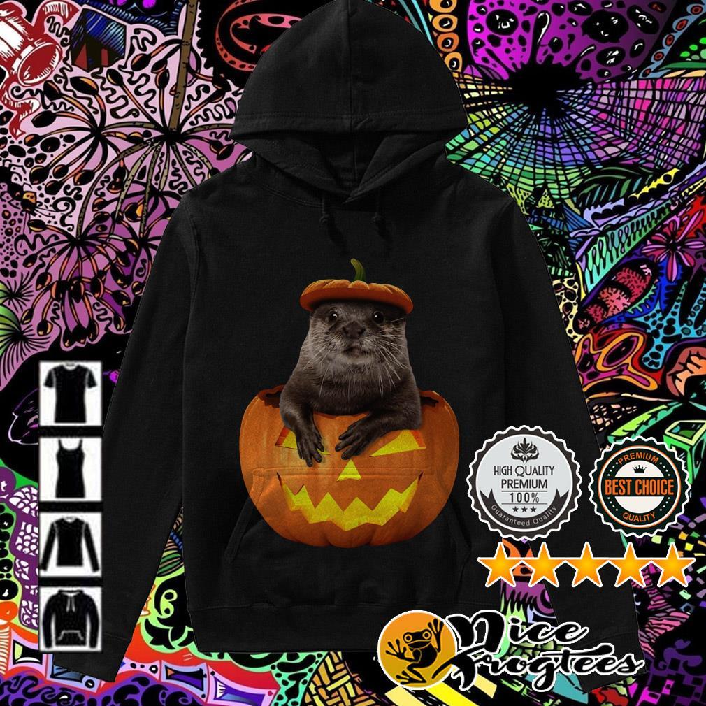 Otter in Pumpkin Halloween Hoodie