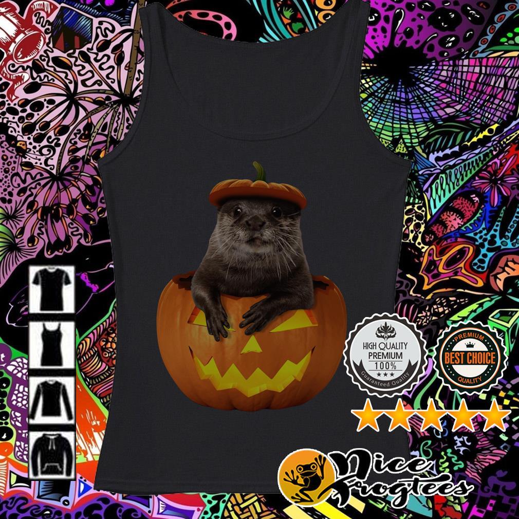 Otter in Pumpkin Halloween Tank top