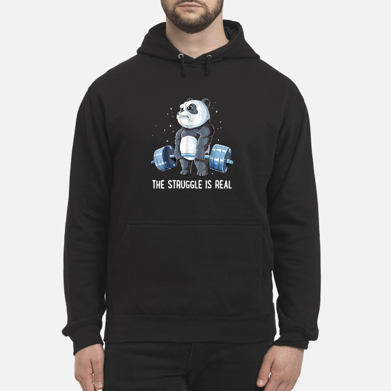 Panda doing weight lifting the struggle is real Hoodie