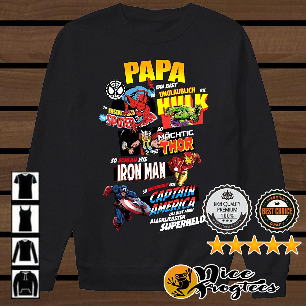 Papa Hulk Spiderman Thor Iron Man Captain America shirt