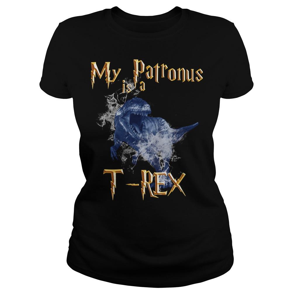 My Patronus is a T-Rex Ladies Tee