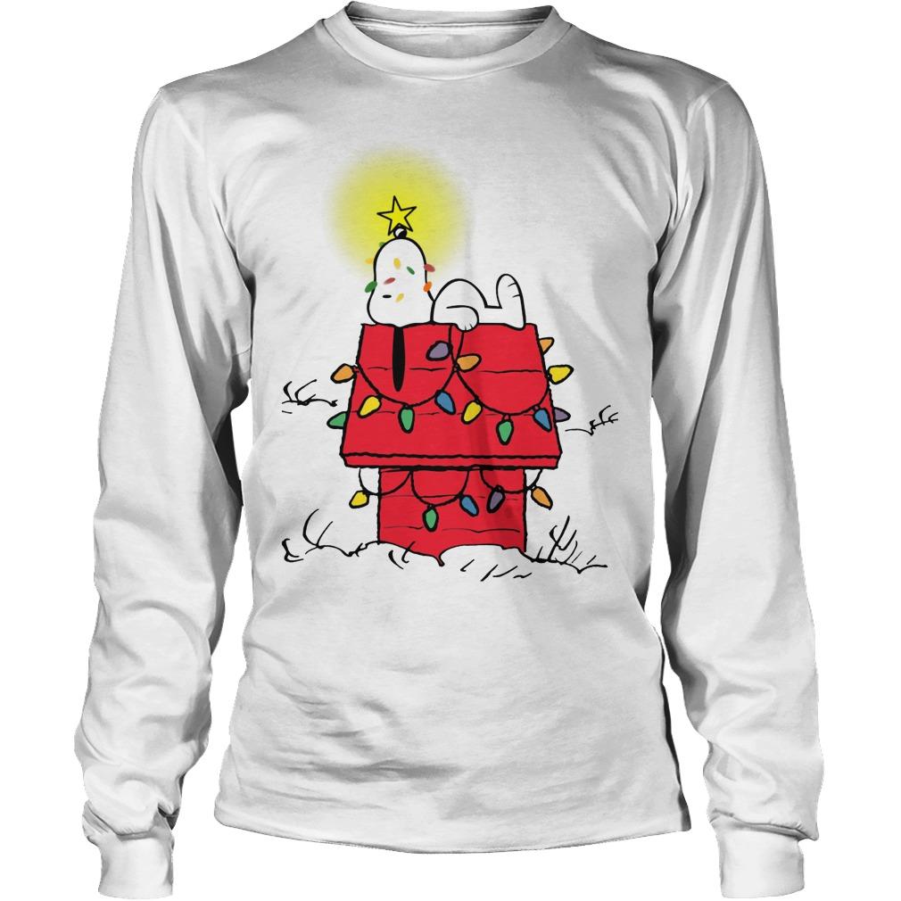 peanuts snoopy christmas ugly longsleeve tee - Snoopy Christmas Shirt