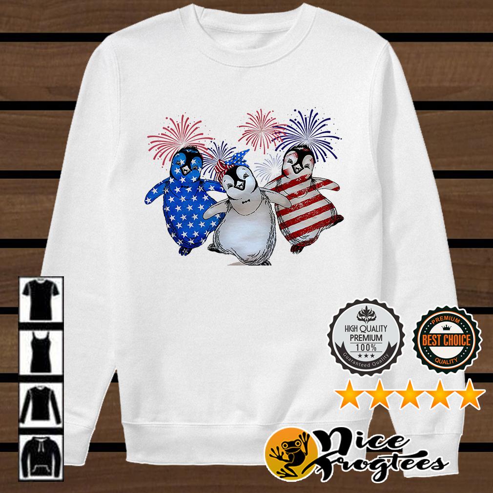 Penguin American flag shirt
