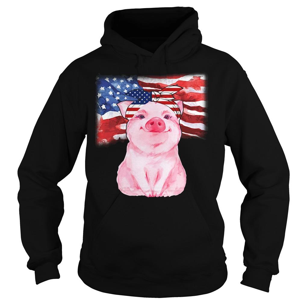 Pig Sublimation American Flag Hoodie