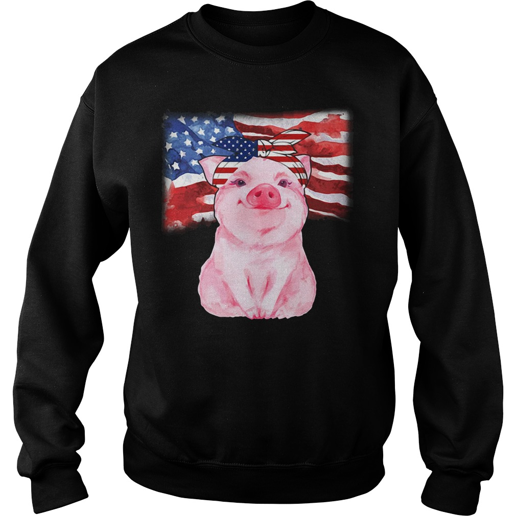 Official Pig Sublimation American Flag Sweater