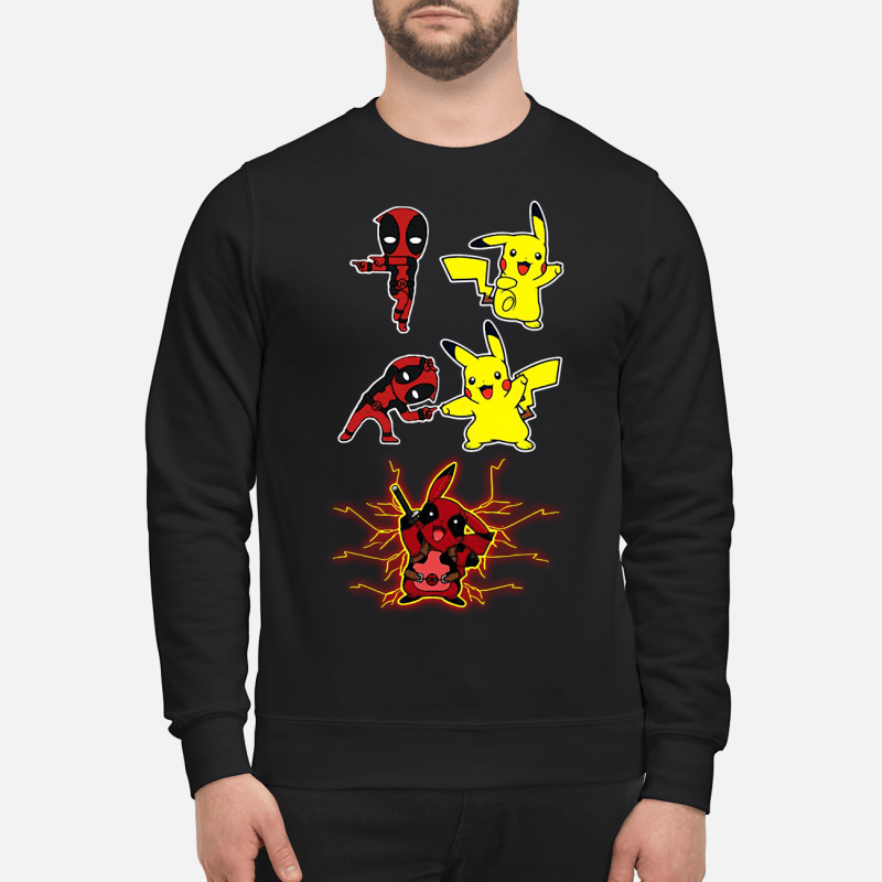 Pikapool Deadpool and Pikachu Fusion Sweater