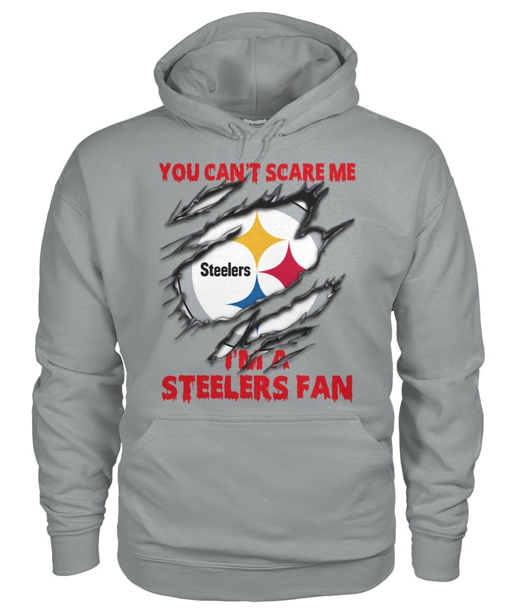 Pittsburgh Steelers you can't scare me I'm a Steelers fan Hoodie