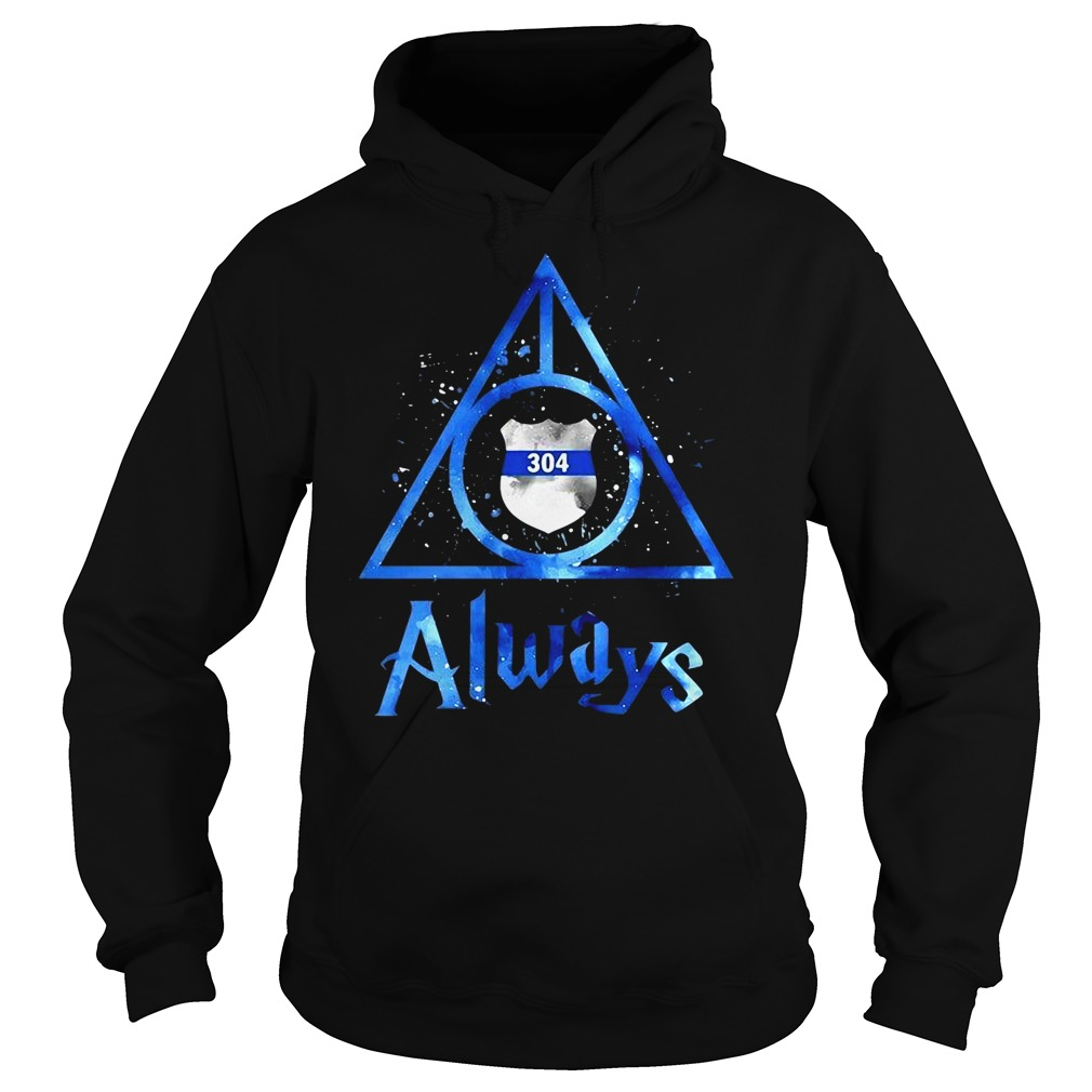 Police Badge Deathly Hallows Always Harry Potter Hoodie