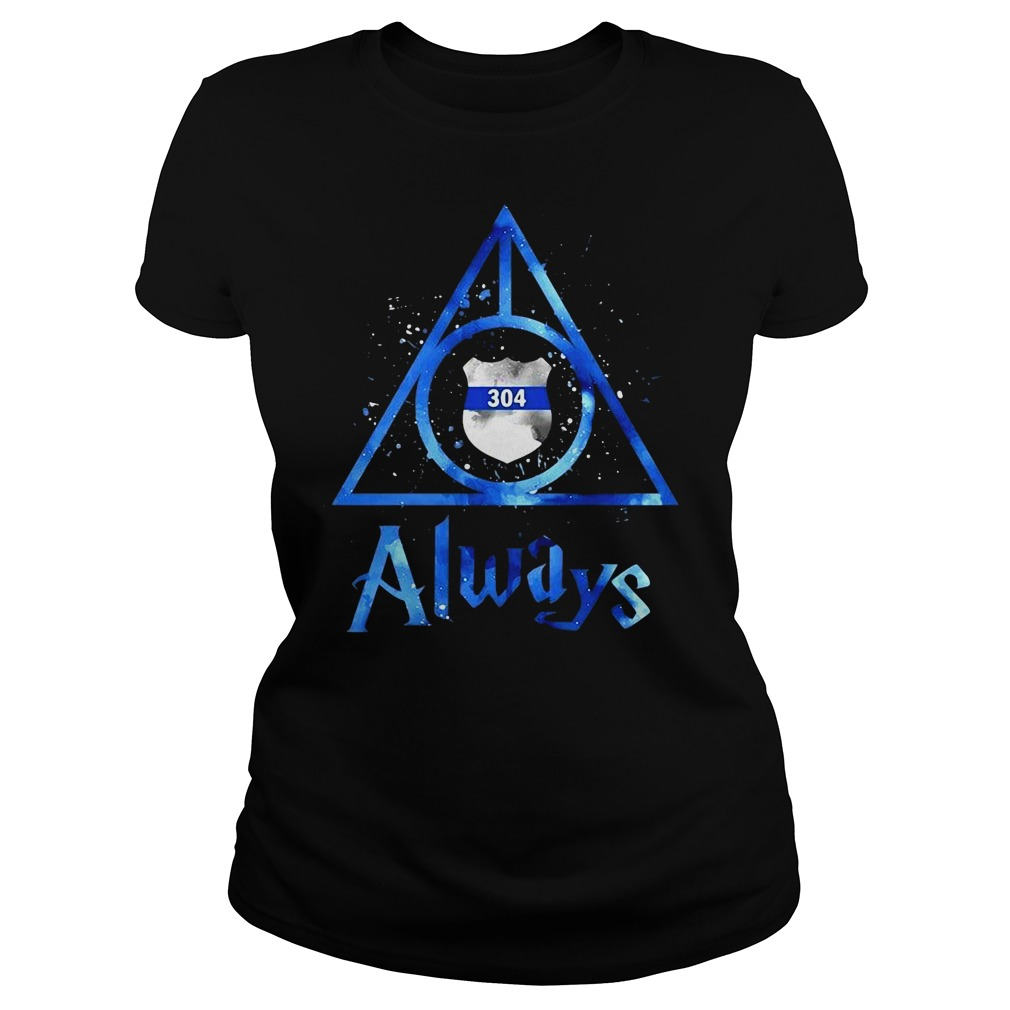 Police Badge Deathly Hallows Always Harry Potter Ladies tee