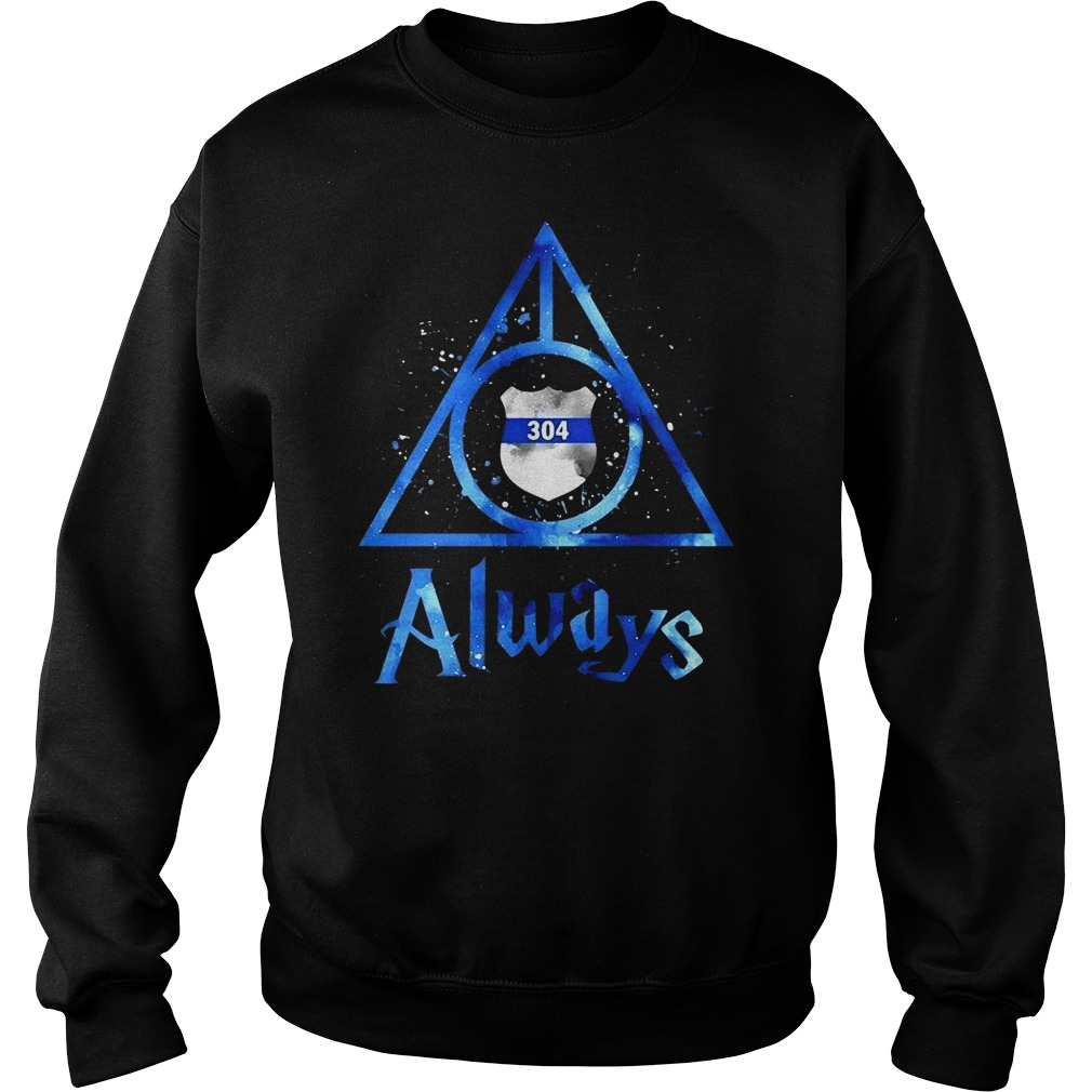 Police Badge Deathly Hallows Always Harry Potter Sweater