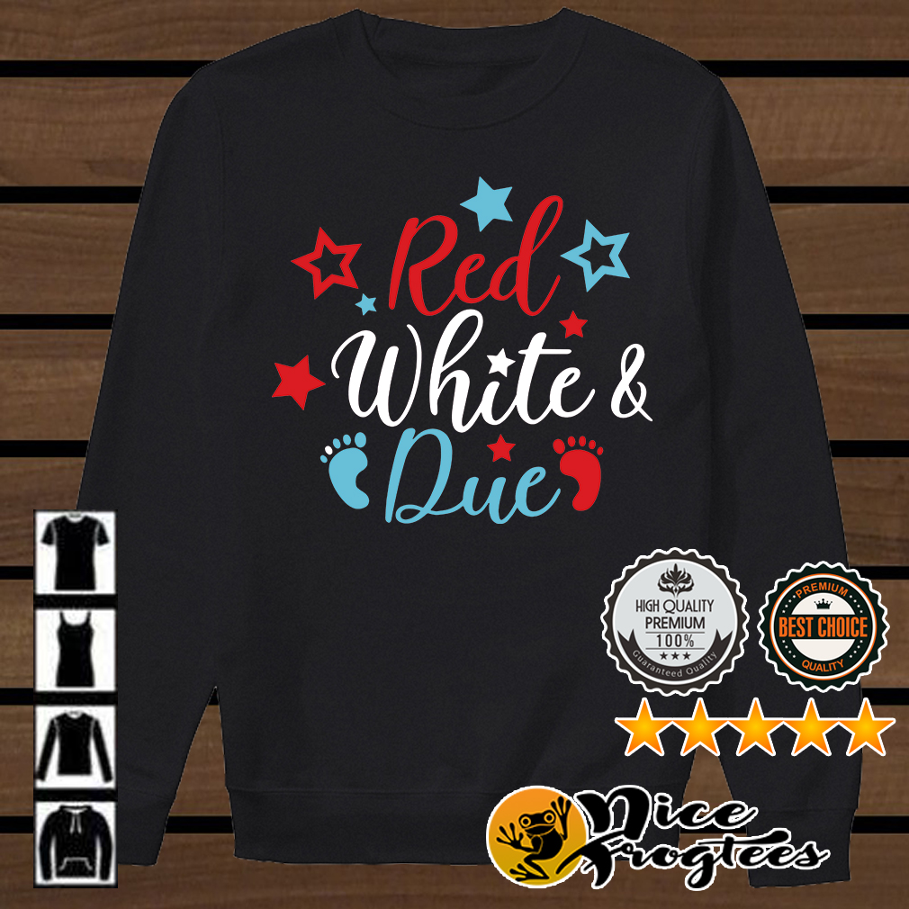 Pregnancy red white due shirt