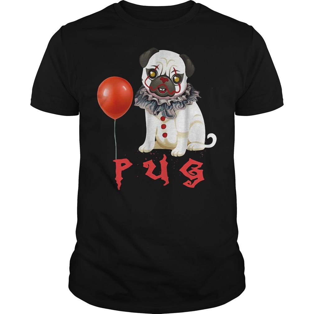Pug it clown Halloween shirt