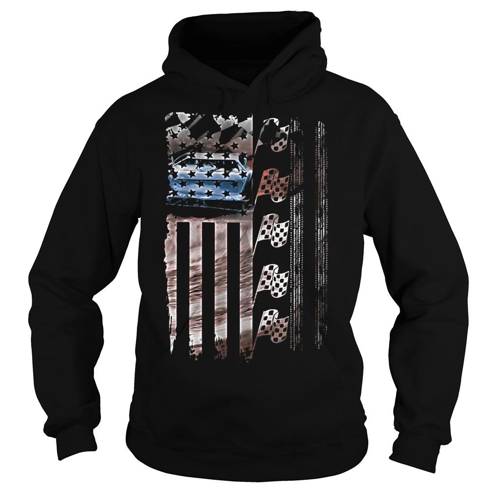Racing American flag Hoodie