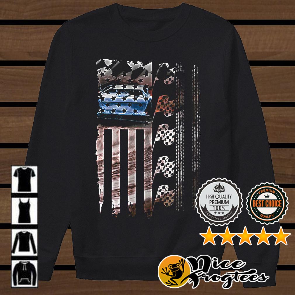 Racing American flag shirt
