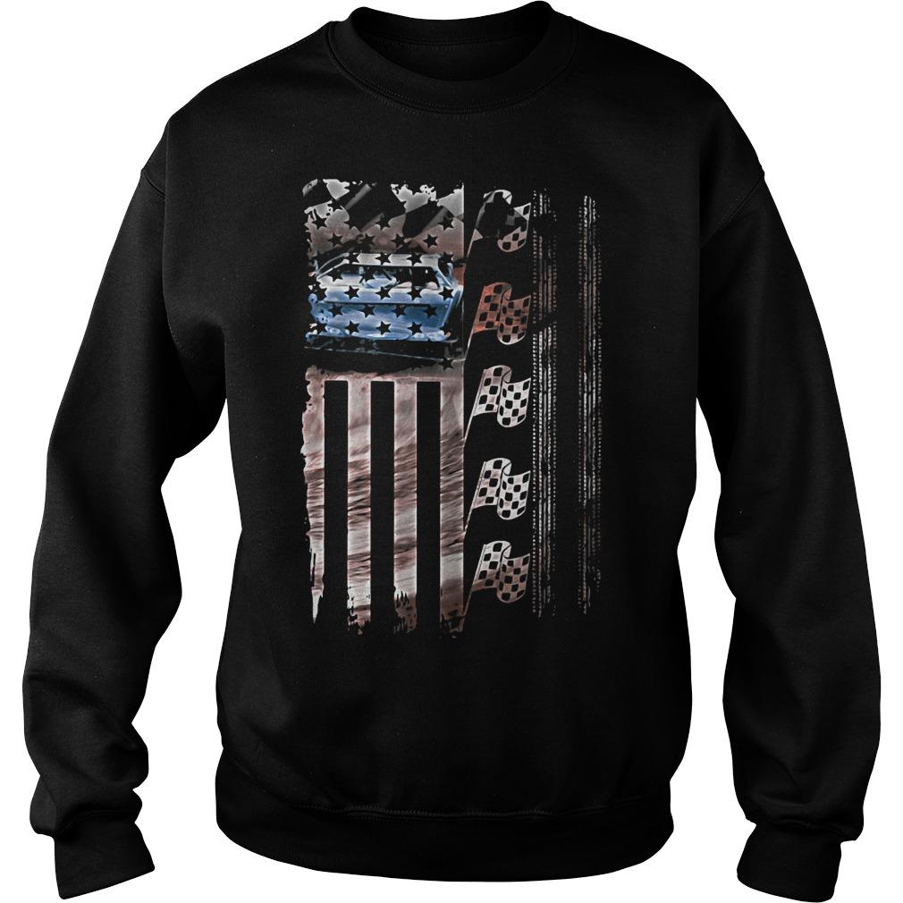 Racing American flag Sweater